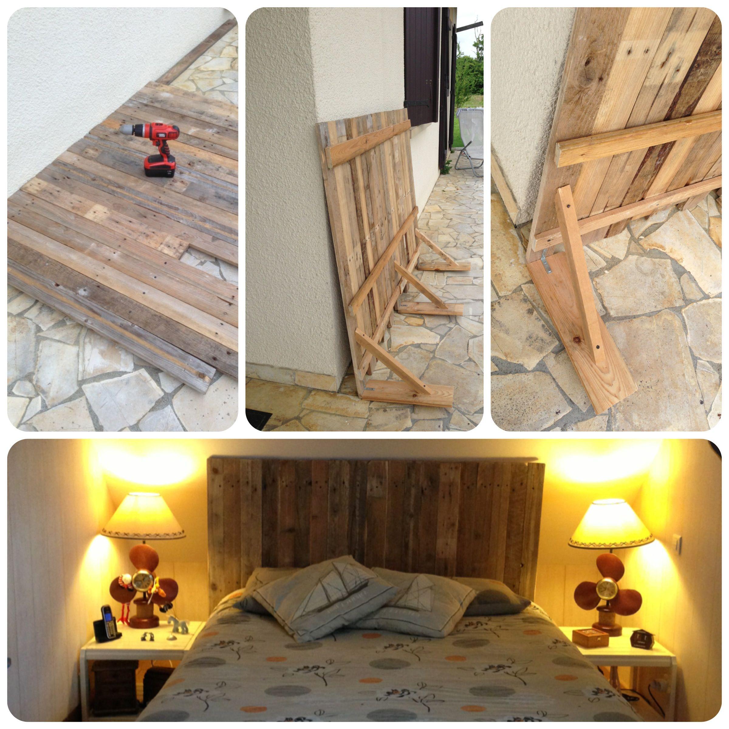 Mi nueva cabecera de cama con madera de paletas - Cabeceras de cama de madera ...