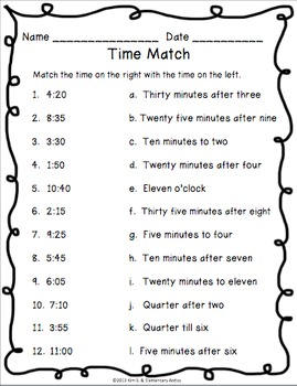 Telling Time Pack Worksheets Game Task Cards Telling Time Worksheets Time Worksheets Math Time