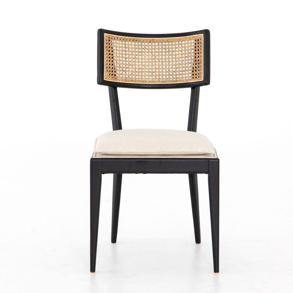 Britt Dining Chair In Brushed Ebony Cane Dining Chairs Dining