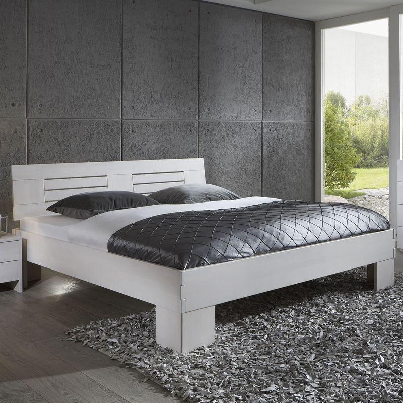 Holzbett Weiß 200×200