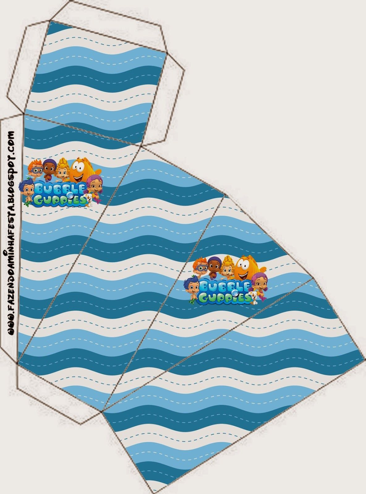 Bubble Guppies Free Printable Boxes. | Invitaciones | Pinterest ...