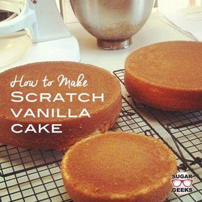 Cómo hacer delicioso pastel de vainilla rasguño