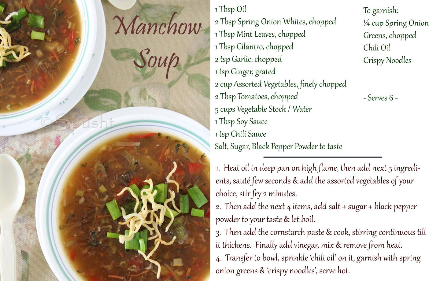 How to make manchow soup indo chinese food food indian vegetarian recipe for manchow soup a popular soup from the indo chinese cuisine that uses many vegetables thickens because of cornstarch and usually has forumfinder Choice Image