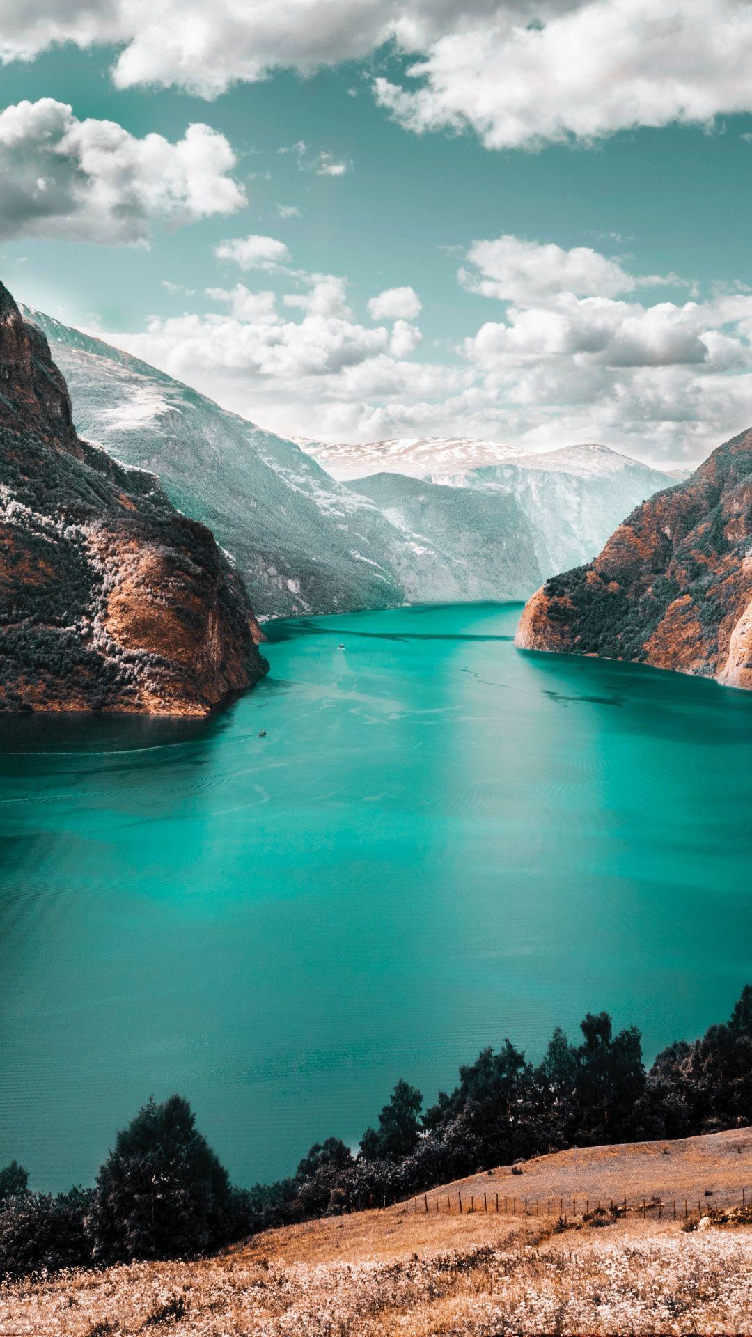 Downaload River, mountains, nature wallpaper for screen