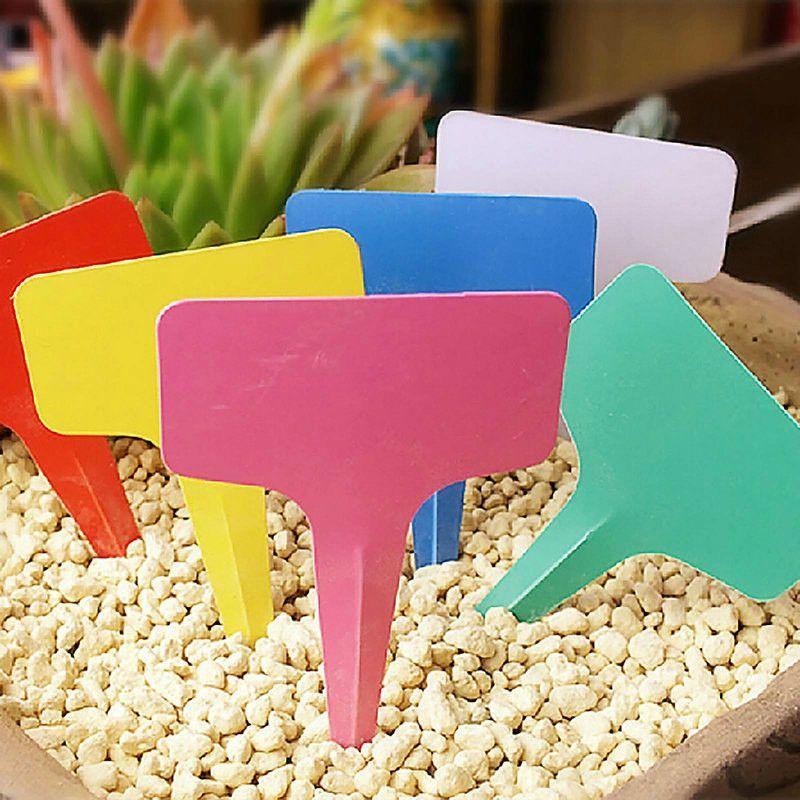 5pcs Colorful Plastic Plant Label Flower Tags Markers Nursery