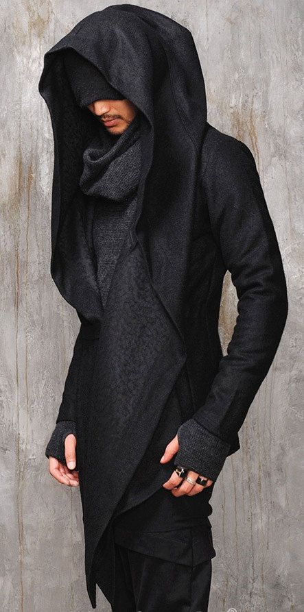 Dark Edgy Diabolic Sharp Avant Garde Hooded Cape this would be cuter ... 26a11ac8ad4
