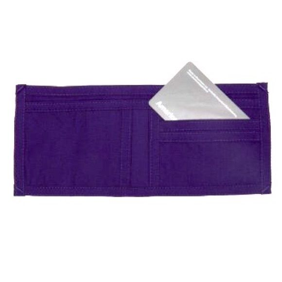 NEW! American Apparel Purple Unisex Poplin Wallet! Brand new, purple, unisex, poplin wallet by American Apparel. AA discontinued this wallet and it's impossible to find! (Marked NWT, but has no tags attached since it was ordered from the online AA catalog. It came like that and was never used.) Holds a lot without taking up a lot of room. Perfect for summer! American Apparel Bags Wallets