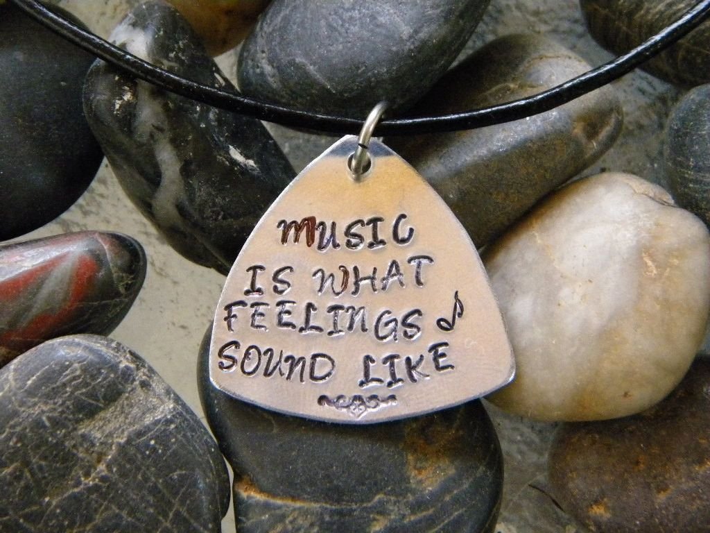 guitar pick necklace music is what feelings sound like