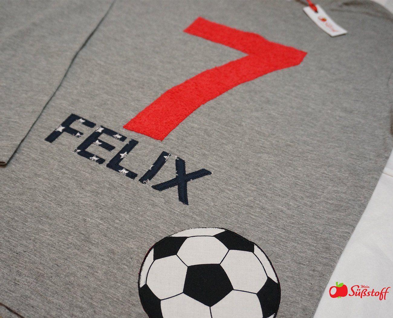 Football Birthday Shirt Boys With Number 2 3 4 5 6 7