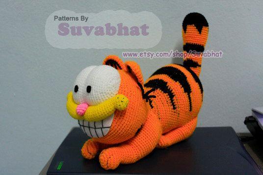 Snoopy Easy Amigurumi Pattern : Really cute! garfield crochet pattern pdf by suvabhat on etsy