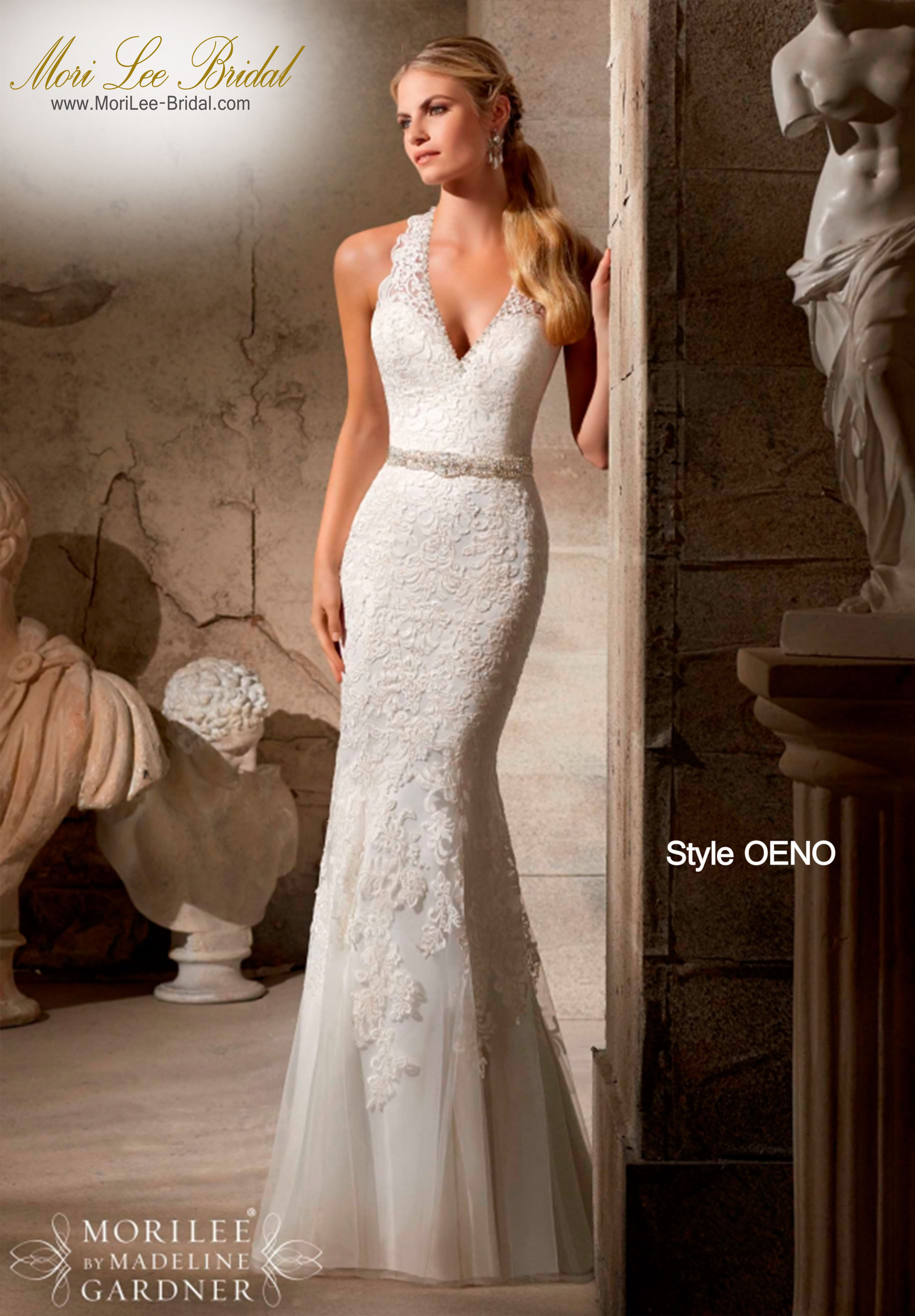 Mori lee wedding dresses discontinued styles  Style OENO EMBROIDERED APPLIQUES ON SOFT NET TRIMMED WITH CRYSTAL
