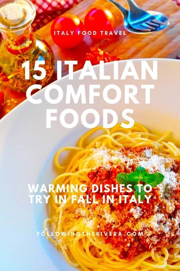 When #traveling to #italy in #fall these 15 #italian #comfortfoods will warm up your body as well as your stomach! #italia #italytravel #travelItaly #sicilytravel #traveltips #traveldestinations #travelideas #smalltownitaly #travelersnotebook #traveladvice #traveladviceandtips #traveltipsforeveryone #traveladdict #travelawesome #travelholic #europetravel #europetraveltips #autumn #comfortfood #italianfood