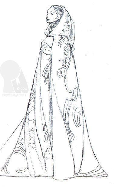 Padmé Costume Sketch - padme-naberrie-amidala-skywalker Fan Art ...