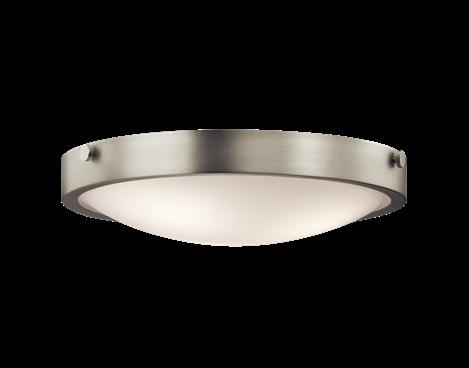 Flush Mount 3Lt NI - Kichler Lighting - pendant, ceiling, landscape light fixtures & more