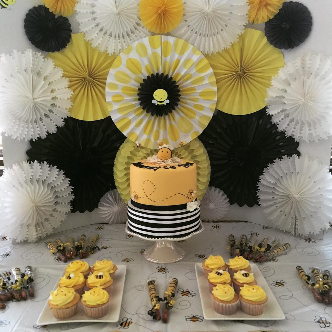 Mommy To Bee Dessert Table Bumble Shower Baby Candy