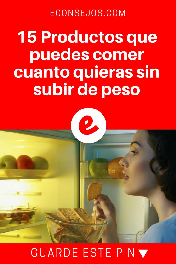 15 Alimentos Que Puedes Comer En Cantidades Y No Engordar Cenas Saludables Bajar De Peso Comidas Que No Engordan Te Para Bajar De Peso