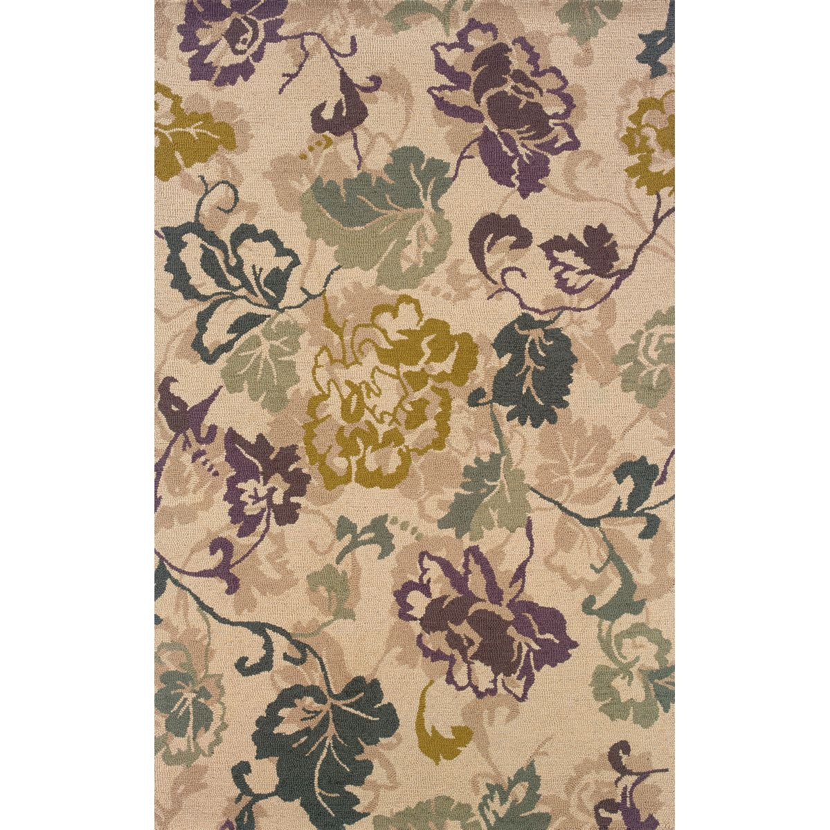 This Beautiful Hand Tufted Area Rug Features A Large Scale