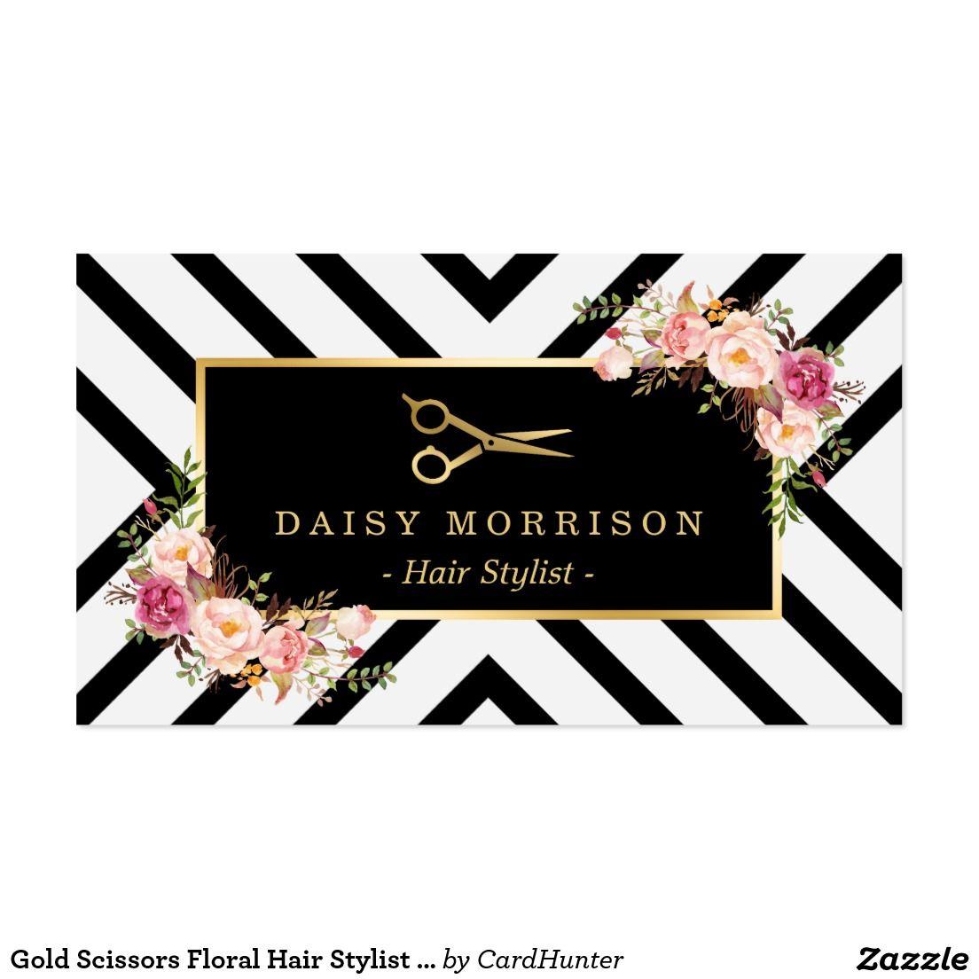 Gold scissors floral hair stylist beauty salon business card gold scissors floral hair stylist beauty salon business card magicingreecefo Image collections