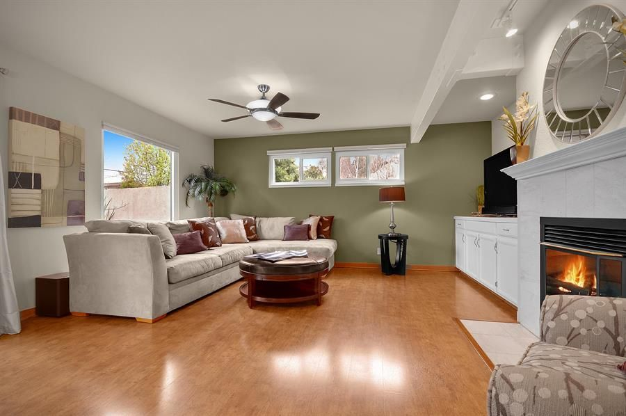 Ceiling Fans with Lights for living room with hardwood floors and