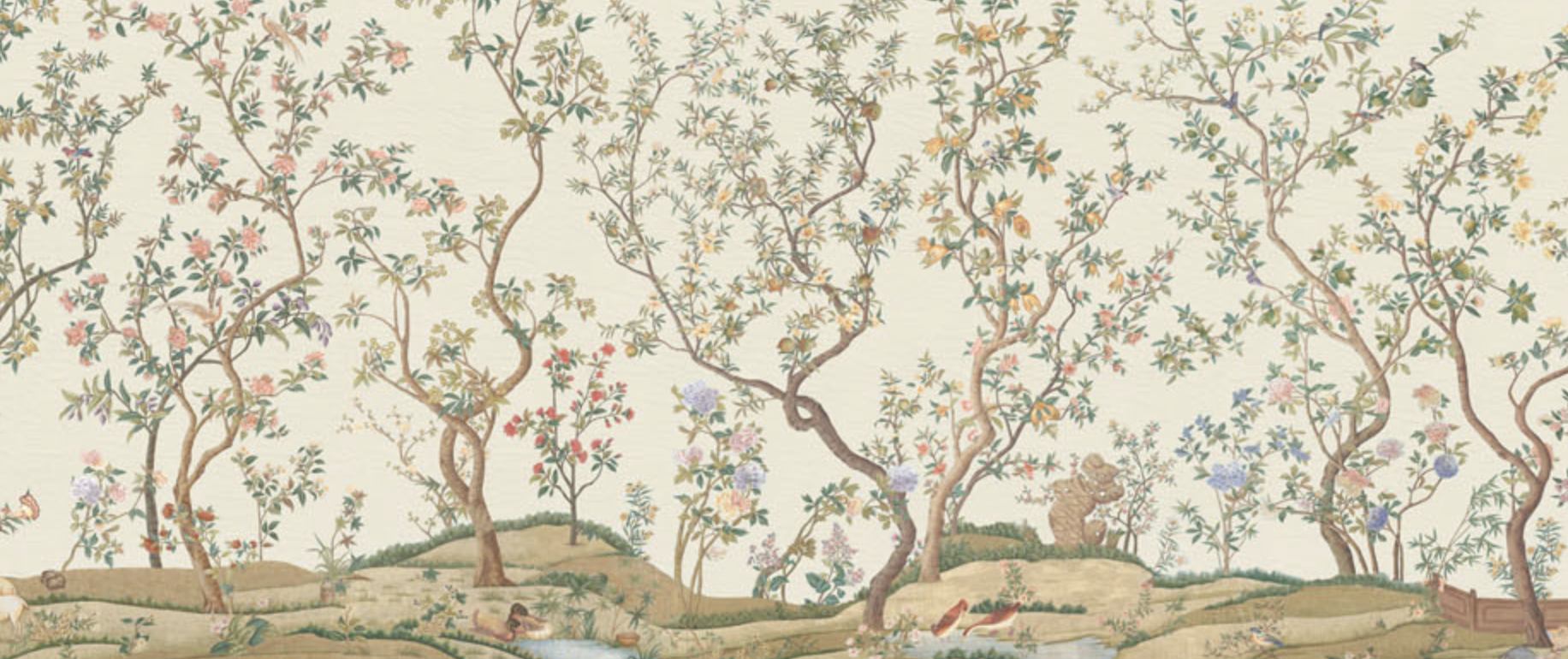 Imperial Garden - this decor was originally an East India Company traditional Chinese wallpaper - IKSEL