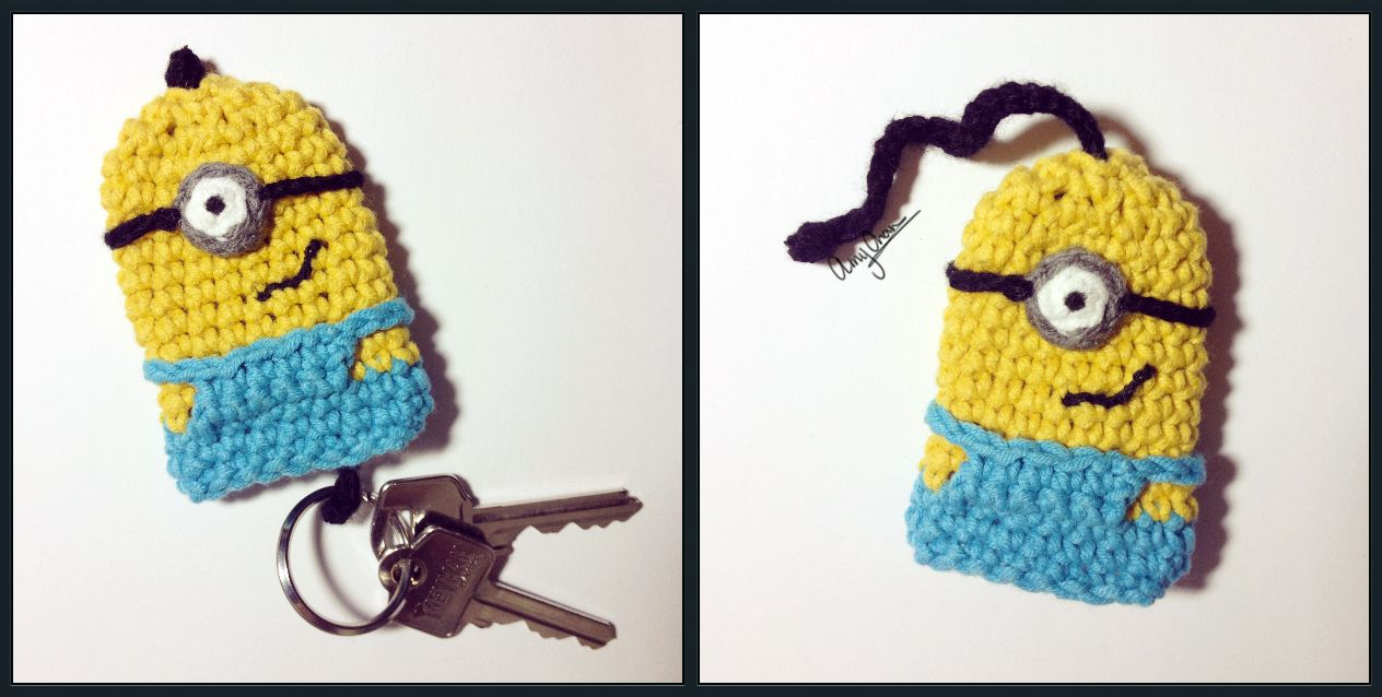 Great idea for a Minion key cover - just need to learn to crochet ...