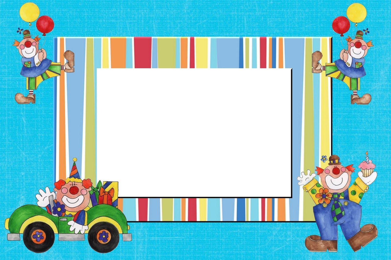 Tarjetas De Cumpleaños Infantiles Para Editar E Imprimir