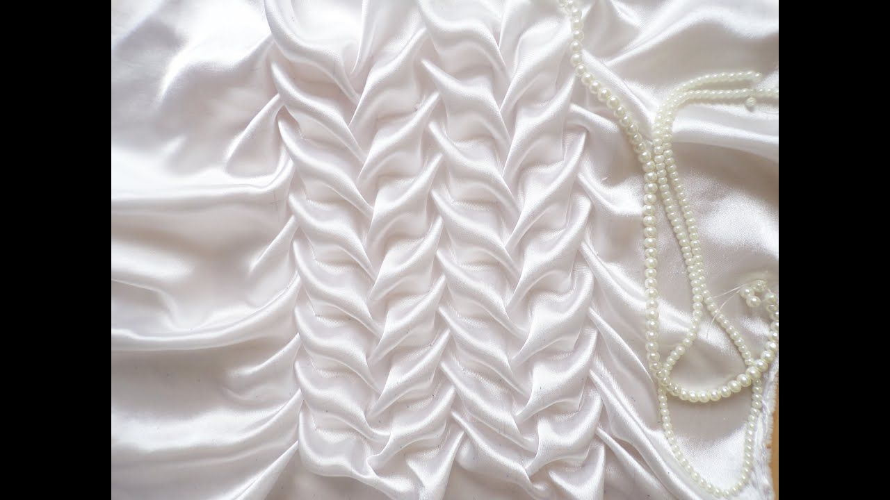 Canadian smocking,Beautiful fabric manipulation technique. #fabricmanipulation