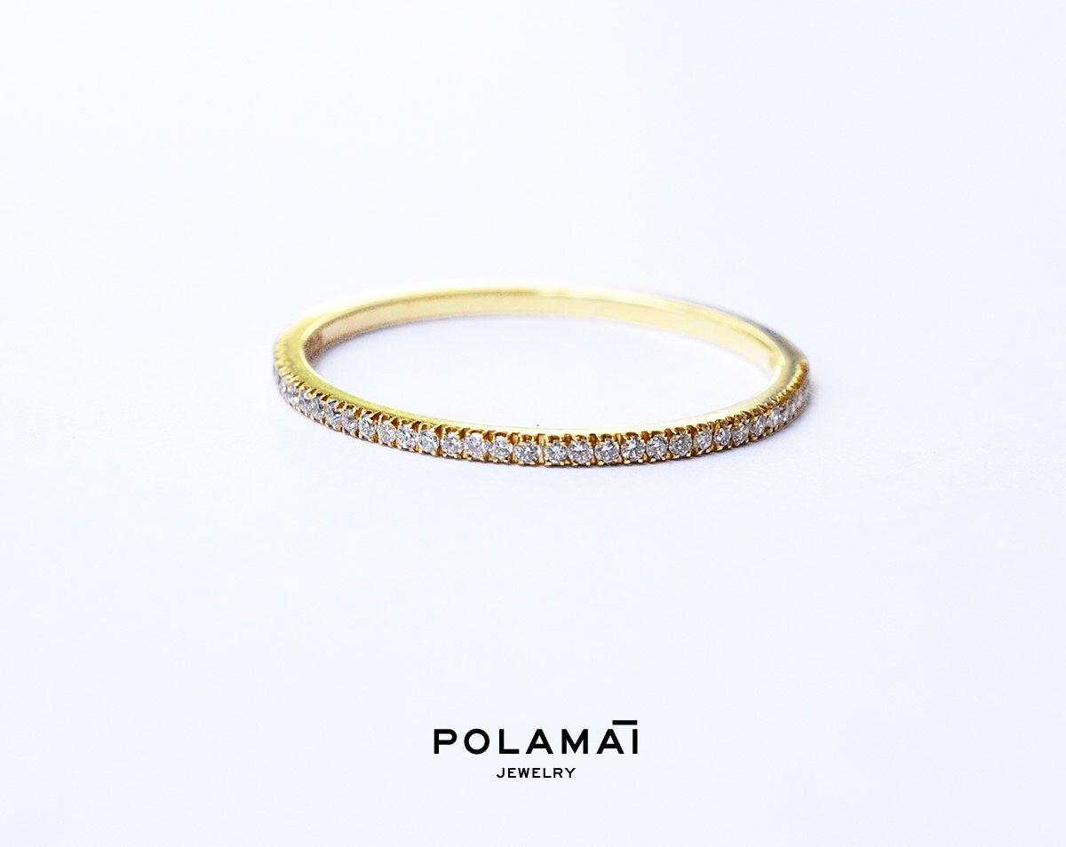 Diamond Eternity Ring 1 2mm 18k Micro Pave Eternity Ring