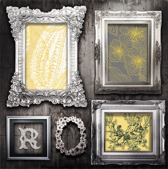 Use pretty wallpaper in painted frames for unique artwork and can ...