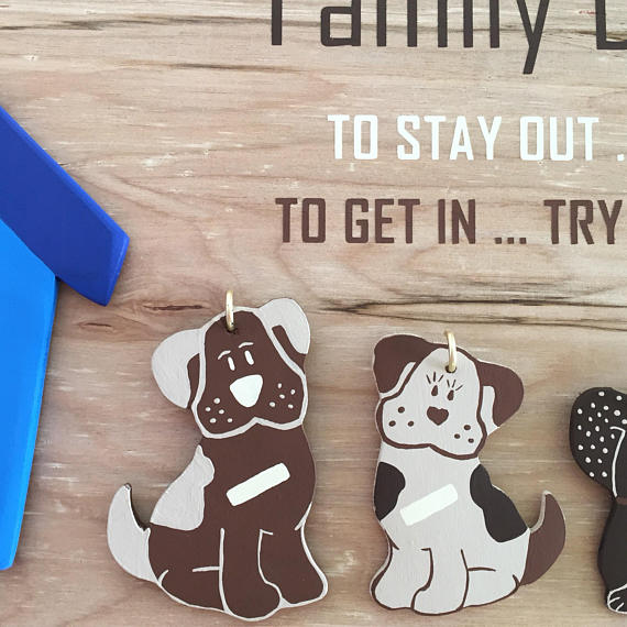 Family Dog House Wooden Sign Dog House Plaque Family Doghouse