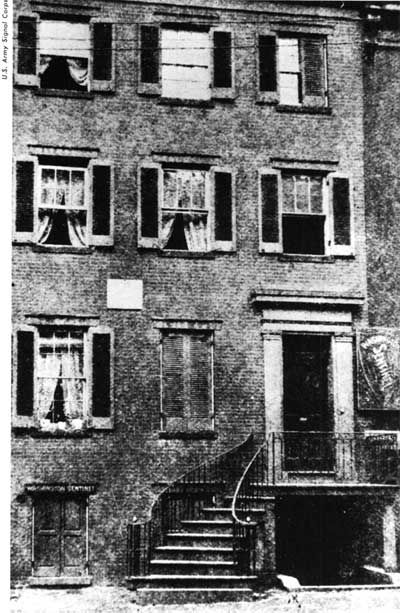 The house in which Lincoln died, at 453 (now 516) 10th Street, NW., was built by William Petersen, a tailor of Swedish descent, in 1849. It is a three-story building, with the basement only slightly below the street level. Since the house had more rooms than the family required, he rented his extra rooms to lodgers