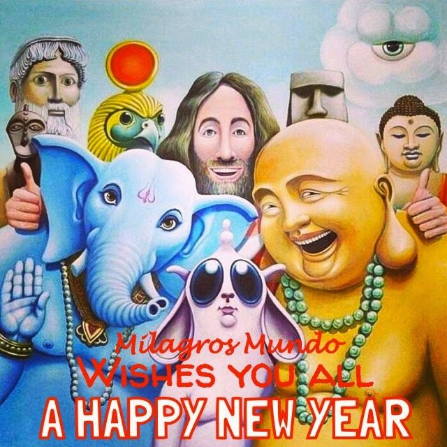 """MILAGROS MUNDO """"Funky Fairtrade & Hippy Chic"""" wishes you  ☆ A HAPPY NEW YEAR!!! ☆New Years wishes & Blessings  Good Luck Wishes The Joy of Happiness The Strenght for good Health The Beauty of Hope The Spirit of Love The Comfort of Faith The Blessings of Peace May these be the gifts for 2015 ✩ HAPPY NEW YEAR ✩ Love, Peace & Alohaa MILAGROS MUNDO"""