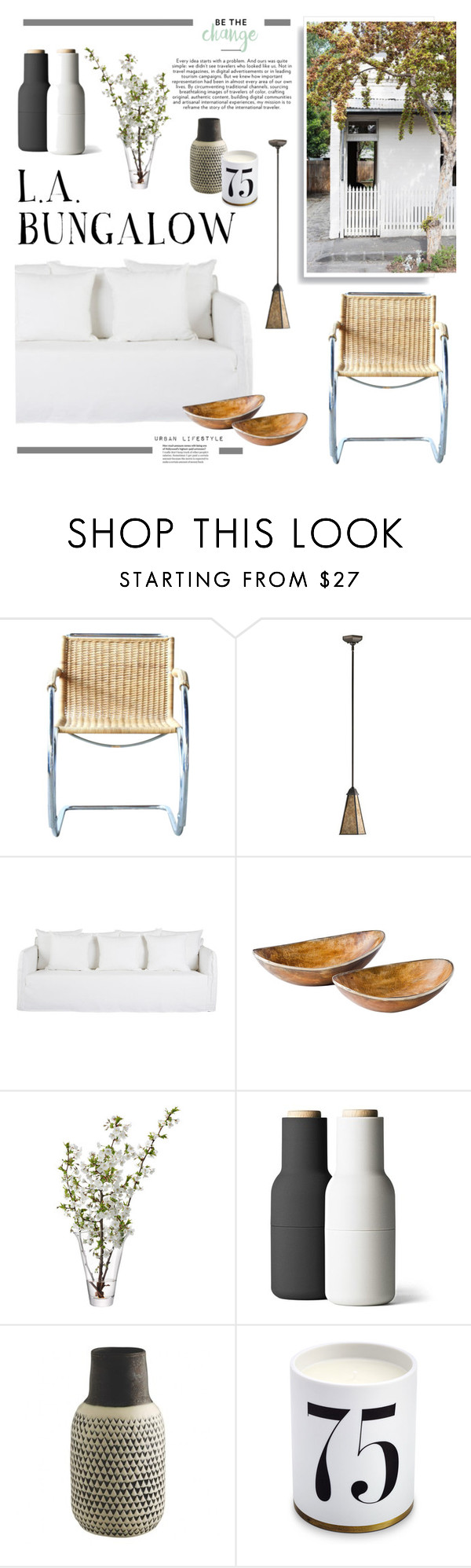 """L.A. BUNGALOW"" by barngirl ❤ liked on Polyvore featuring interior, interiors, interior design, home, home decor, interior decorating, Quorum, Olympia, LSA International and Minimal"