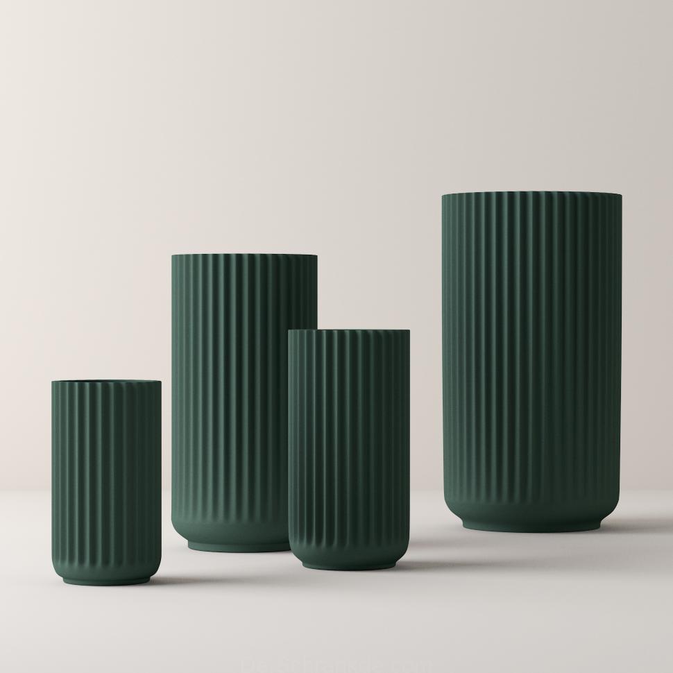 Lyngby Porcelain Vase Porzellan Schwarz 15cm