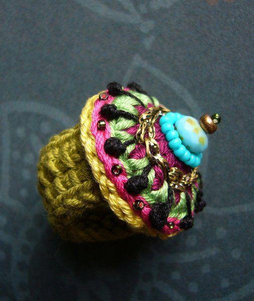 Ringe Häkelring Ein Designerstück Von Crochet Bei