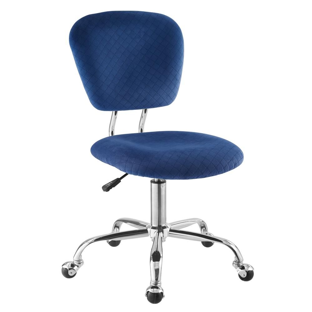 Linon Home Decor Drake Blue Office Chair Grey Blue Office