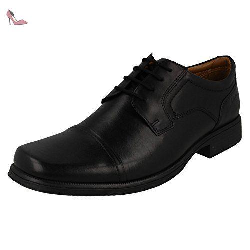 Clarks Flexton Plain black leather Men's Business shoes, tamaño de zapato:EUR 42.5