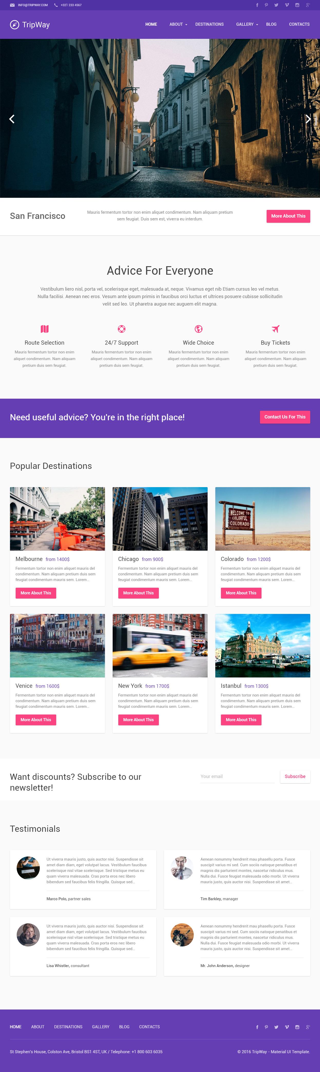 TripWay is Premium Responsive #WordPress #Travel Theme. Bootstrap ...