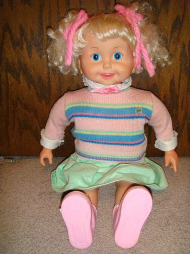 The Playmates Cricket Talking Doll It Had A Tape Player In The Chest Her Mouth Moved Lol I Loved This Thin Child S Play Movie Old School Toys Childhood Toys