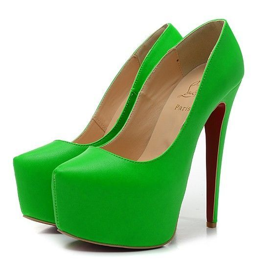 6135ba2006f9 Christian Louboutin Daffodile 160mm Suede Platform Pumps Red Bottom Shoes  Green
