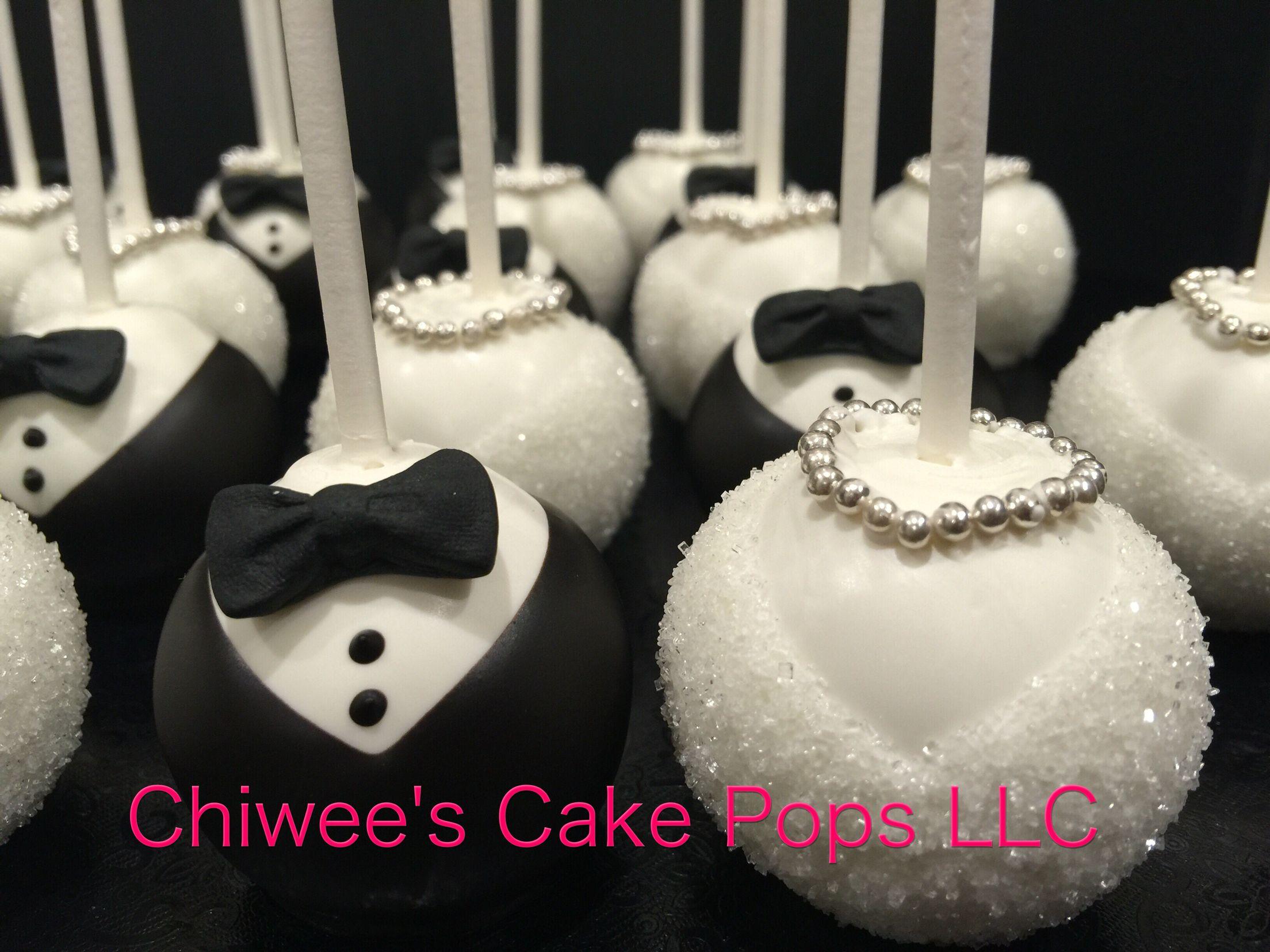 Bride And Groom Cake Pops Wedding Cake Pops Elegant Cake Pops Wedding Cake Pops Favors