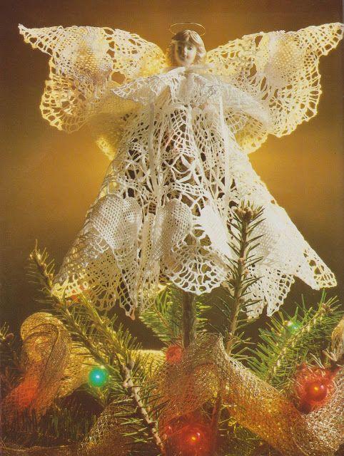 Angeles para la punta del arbol de navidad