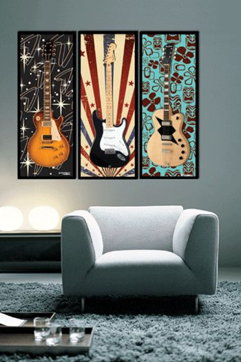 How I Got My Guitars In The Living Room Music Room Guitar Wall Guitar Display