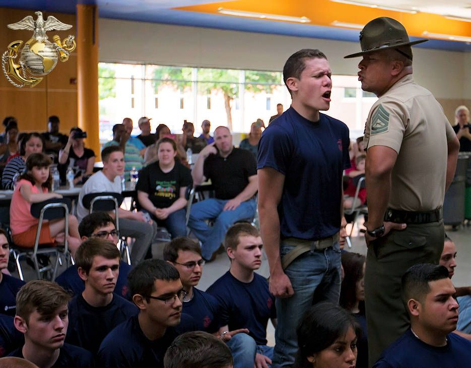 a poolee from us marine corps recruiting sub station fort worth texas gets told
