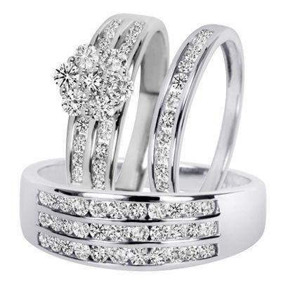 Encienda Wedding Ring Trio Sets Matching Wedding Ring Sets Wedding Ring Sets