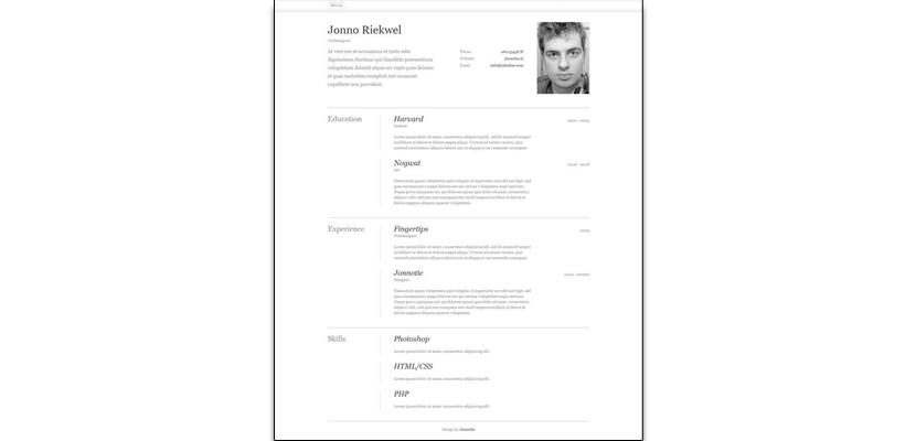 Curriculums creativos de diseñadores web, diseñadores gráficos y más ...