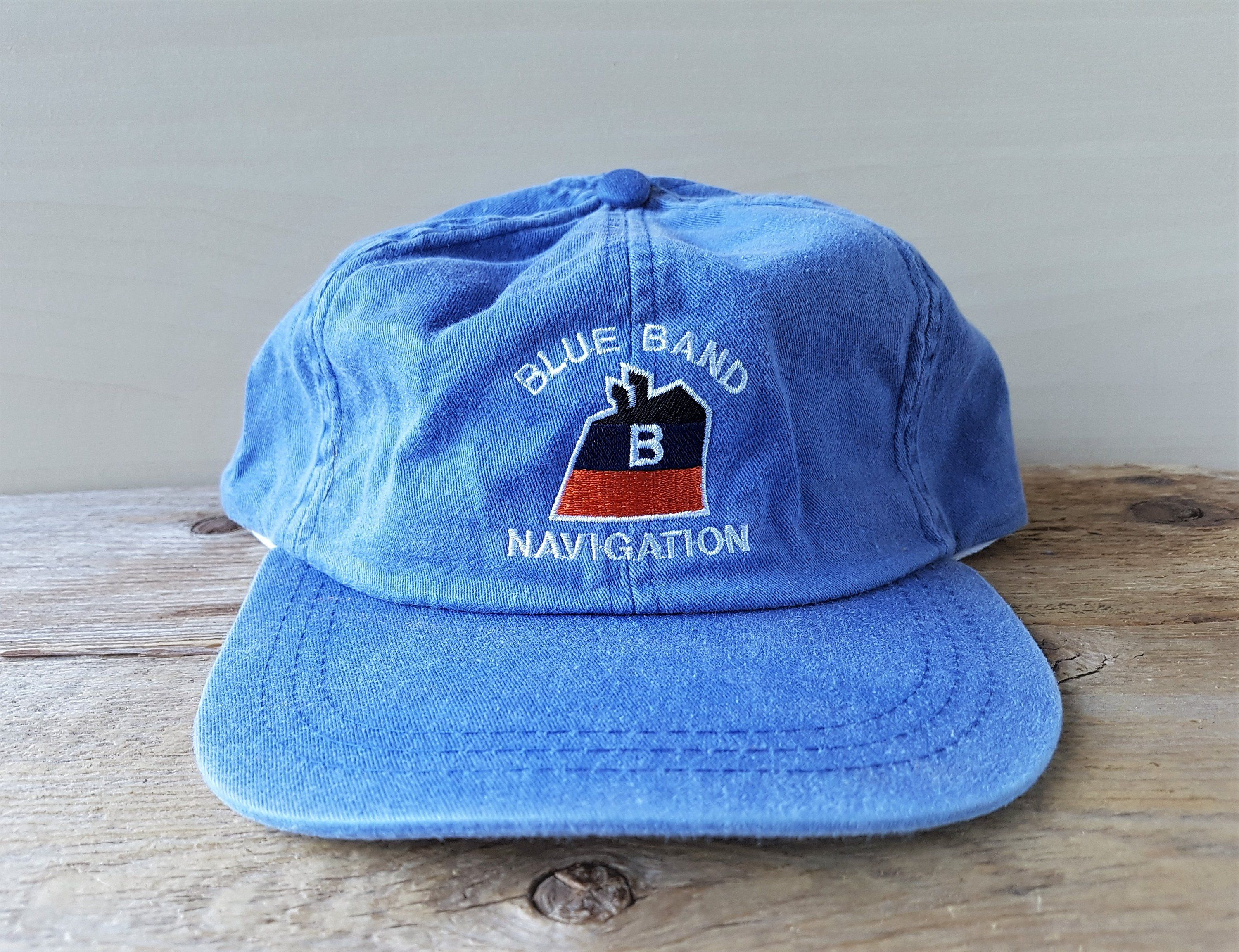 Blue Band Navigation Vintage Dad Hat Strapback 6 Panel Baseball Cap Unstructured Kp Caps Marine Towing Company Tugboat Promo Embroidere In 2020 Dad Hats Blue Band Hats