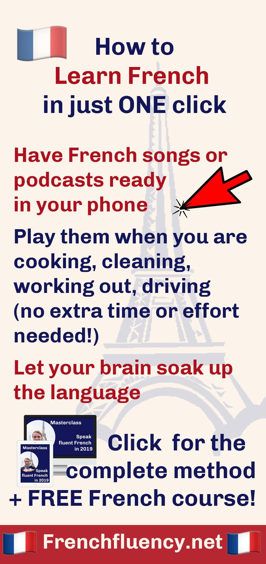 How To Learn French With Just One Click French Fluency Learn French How To Speak French Learning Methods