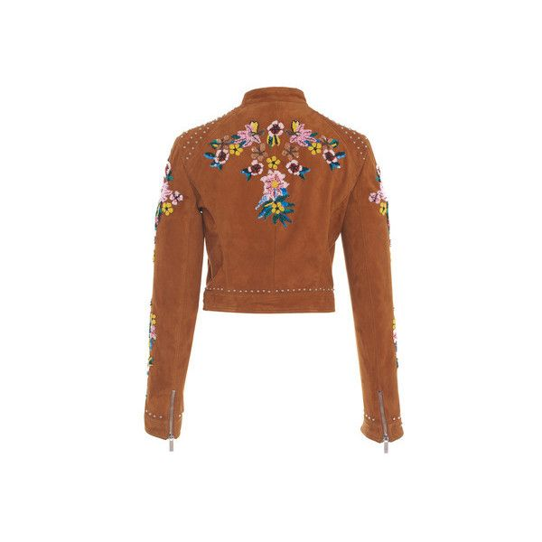 Zuhair Murad Embroidered Suede Biker Jacket (33.885 BRL) ❤ liked on Polyvore featuring outerwear, jackets, suede jacket, biker jacket, brown suede jacket, motorcycle jacket and suede moto jacket