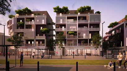 51 Logements et Commerce à Montfermeil - skp architecture - Agence…